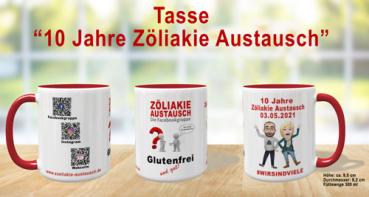 """Tasse """"10 Jahre Zöliakie Austausch"""""""
